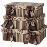 Decorative Hat Boxes Classical Designer Boxes: Decorative Hat Boxes and Bow Ribbon Storage Boxes