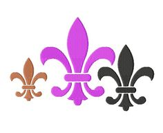 Fleur De Lis  Machine Embroidery  11 Sizes from 2 by LilliPadGifts, $4.50