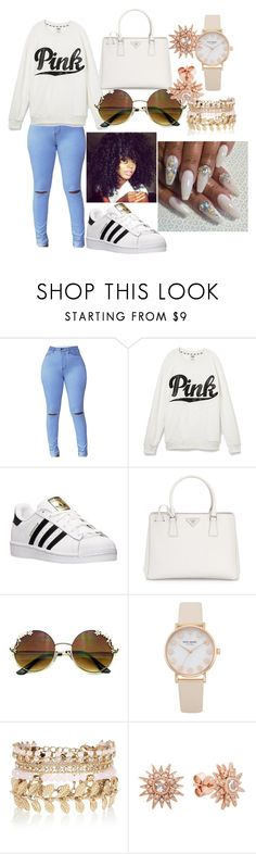 """""""Untitled #219"""" by chynaboobear on Polyvore featuring Victoria's Secret, adidas, Prada and River Island"""