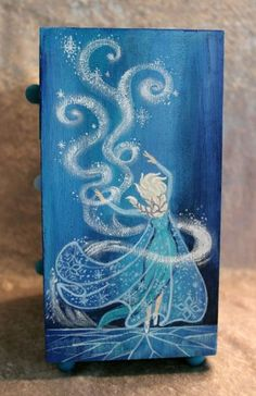 """hand pained """"frozen"""" furniture 