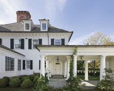 Never enough views of anything by Ferguson & Shamamian, including this white clapboard masterpiece in Westport, Connecticut.