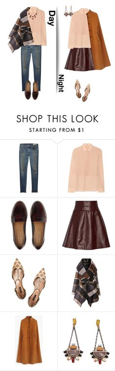 """Silk shirt from day to night."" by gul07 ❤ liked on Polyvore featuring rag & bone/JEAN, T By Alexander Wang, Temperley London, Dolce&Gabbana, Chicwish, J.Crew and Talbots"
