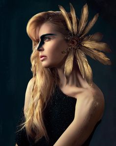 I'm excited to see a headpiece I've made used in this amazing photoshoot! Photo by Color Calibration, Headpieces, Swarovski Crystals, Photoshoot, Amazing, Feathers, Stuff To Buy, Accessories, Beautiful