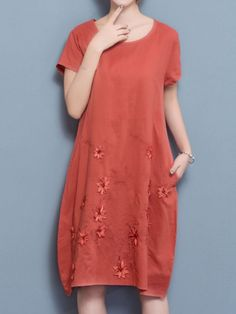 Floral embroidery short sleeve o-neck loose women dresses casual dresses usa online #casual #dresses #2016 #in #pakistan #casual #dresses #for #4 #year #olds #casual #dresses #online #india #maria #b #casual #dresses