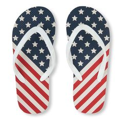 997d8e5fe062 Girls American Flag Flip Flop - White - The Children s Place American Flag