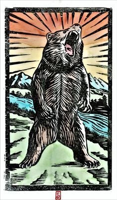 Grizzly Bear by GrowCreateInspire on Etsy