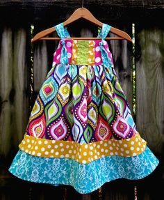 Spring Fling Dress by Ruby Pearl Boutique Style Baby / Girl / Toddler Clothing, Girl /Toddler Spring, Summer, and Beach Dress