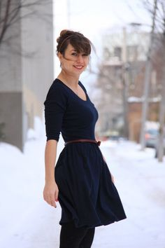 """Inspiration   Casual styling for Colette Patterns' """"Moneta"""" dress"""