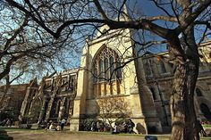 Southwark Cathedral, the oldest cathedral in London, on the south bank of the River Thames