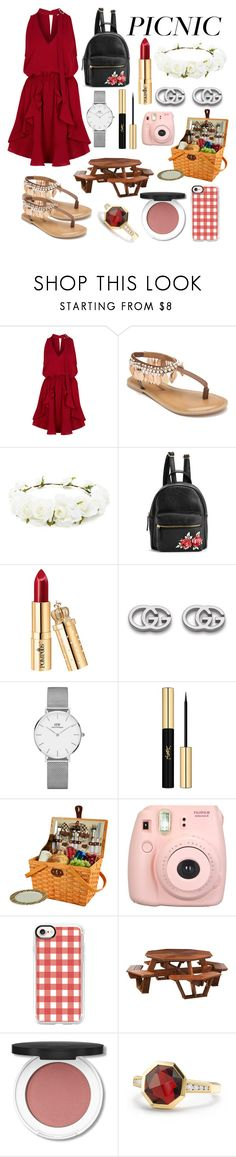 """""""Picnic time"""" by tanvibhatia1 ❤ liked on Polyvore featuring Finders Keepers, Penny Loves Kenny, Forever 21, Gucci, Daniel Wellington, Yves Saint Laurent, Picnic at Ascot, Fujifilm, Casetify and DutchCrafters"""