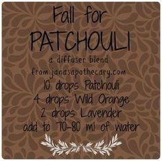 Patchouli diffuser blend