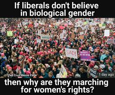Come on people. It is for all people who feel like women that they marched.