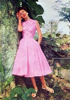 Fashion for McCall's magazine, May 1955.