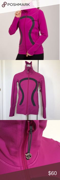 Lululemon Stride Jacket Gently worn in very good condition! Size 2. Pet and smoke free home! Purplish/ pink. lululemon athletica Jackets & Coats