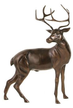 This large stag statue is made with aluminium metal with a bronze finish. This stag sculpture can be the ideal addition to your home or garden. Dimensions: x x (WxDxH) Decorative Accessories, Home Accessories, Lighting Accessories, Autumn Interior, Interior Ideas, Magnificent Beasts, Barker And Stonehouse, Sideboard Furniture, Furniture Ideas