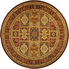 Safavieh�Lyndhurst 5-ft 3-in x 5-ft 3-in Round Multicolor Transitional Area Rug. $131.  They have more round ones, but they tend to be more traditional.