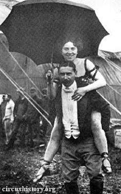 Fred and Ella Bradna vintage circus performers source circushistory.org