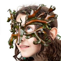 Greenman Leather Mask Oak Man To See is to by featheryleathery, $175.00