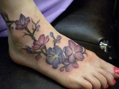 Pretty foot tat