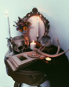 Could not be happier October is finally upon us.letting the autumnal vibes wash over everything in my sight. Especially happy to have added this stunning smudge bundle from to my altar in my new crypt 🕸🍂✨ Magick, Witchcraft, Images Esthétiques, Witch Room, Witch Decor, Happy October, Altar Decorations, Modern Witch, Witch House