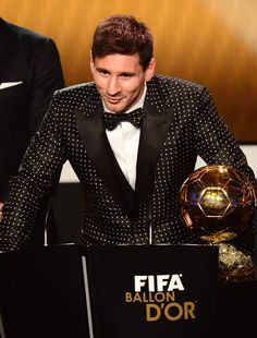 Messi- that suit is the best! haha
