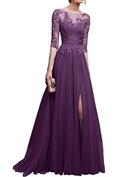 Vickyben Women's A-Line lace Tulle Evening Dress Prom Dress Bridesmaid Dress Ball Gown: Amazon.co.uk: Clothing