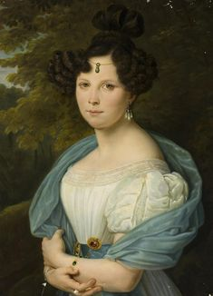 Portrait of a Young Woman, 1830s, Unknown Artist, Russia