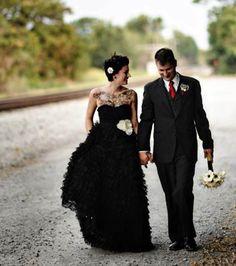 La robe de mariée noire