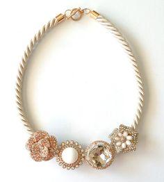Shimmering DIY Statement Necklace
