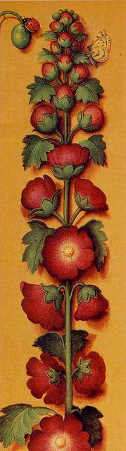 Super Ideas For Vintage Flowers Illustration Bretagne Botanical Flowers, Botanical Illustration, Botanical Prints, Medieval Art, Renaissance Art, Illuminated Letters, Illuminated Manuscript, Medieval Paintings, Illumination Art