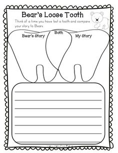 Bears Loose Tooth Story Activities Tracy Hall, Loose Tooth, 1st Grade Writing, Dental Teeth, Student Teacher, First Grade, Language Arts, School Stuff, Storytelling
