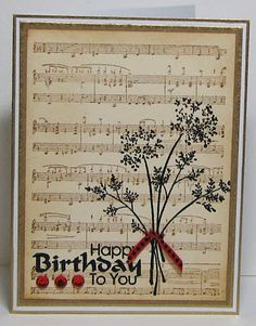 Like the music sheet background with a flower stamped on top.