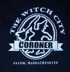 Salem Massachusetts The Witch City Coroner Shirt Large Stop By For A Cold One Vintage Rock Tees, One Clothing, Massachusetts, Cold
