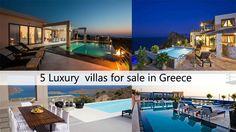 5 Luxury Villas for sale in Greece