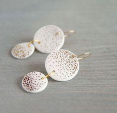 Porzellan Ohrringe von imkadesign auf DaWanda.com