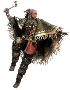 View an image titled 'Atasá:ta The Kryn Art' in our Assassin's Creed III art gallery featuring official character designs, concept art, and promo pictures. Dark Fantasy, Fantasy Art, Native American Warrior, Native American Indians, Native Indian, Native Art, Dnd Characters, Fantasy Characters, Fantasy Inspiration