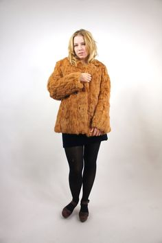 VINTAGE Rabbit Fur Coat only $124