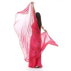 BellyLady Belly Dance Tie-dye Veil For Belly Dancers, Semi-circle Chiffon Veil BLUE