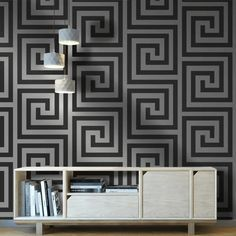 This stunning wallpaper features a geometric on-trend Greek key maze style pattern finished in lovely glitter elements An amazing wallpaper that will be the highlight of any room #wallpaperdepot #wallpaper #interior #interiordesign #interiordecor #interiors #home #homedecor #walldecor #bedroom #kitchen #bathroom #kitchen #wallart #renovation #geometric Amazing Wallpaper, Stunning Wallpapers, Geometric Decor, Glitter Wallpaper, Interior Decorating, Interior Design, Wall Decor, Wall Art, Greek Key
