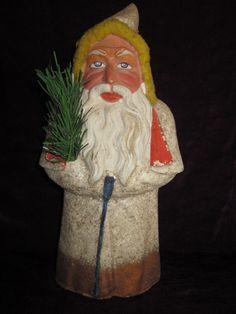 """Antique Santa Belsnickle 14"""" tall"""