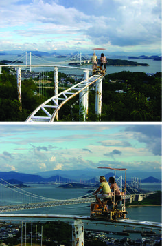 Pedal-Powered Roller Coaster.. So cool!