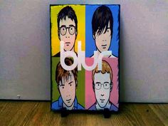 Blur Band Sketch Art on Slate - This is for sale so if you want to make me an offer then please email me at wynperkins@gmail.com