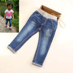 Encontre mais Jeans Informações sobre Nova Chegada Do Bebê Meninas Primavera Outono Denim Jeans…