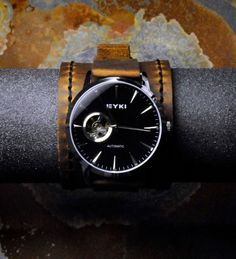 Men's Open Heart Automatic Watch  USA Handmade by GroundEffect