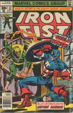 Iron Fist (1975 1st Series) 12 Marvel Comics Modern Age Comic book covers Super Captain America