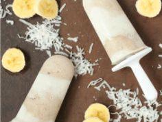 Banana Coconut Cream Popsicles - Spoonful of Flavor