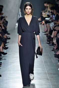 Every Show Kendall Jenner's Walked In So Far  #refinery29  http://www.refinery29.com/2014/09/74831/kendall-jenner-spring-2015-runway-pics#slide3  Taking the jumpsuit to its luxest conclusion at Bottega Veneta.