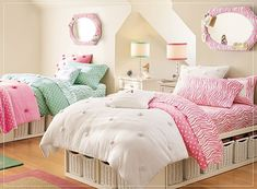The baskets under the bed are great! These beds look so inviting. home-designing.com