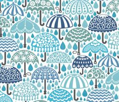 Spoonflower Fabric of the week voting: Umbrellas