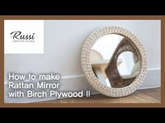 Creative Studio, Plywood, Rattan, Mirror, How To Make, Home Decor, Youtube, Ply Wood, Wicker